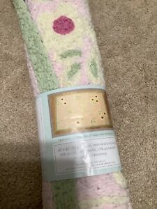 "Kidsline Olivia Rug Baby Nursery GIRL Room PINK Green 30""x40"" NEW"