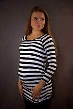 LoveCassy Maternity top Maternity clothes Black&White Stripes size 8 10 12 14 16