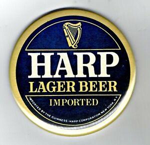 """Harp Lager Jumbo Fridge Magnet Beer Mat Bar   3"""" 75mm blade Sub pub Guinness"""