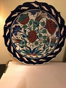 Large Handmade & Hand Painted Turkish Plate New