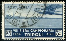 Colonie Italiane Libia 1934 8° Fiera di Tripoli P.A. n. A14 usato (m1659)