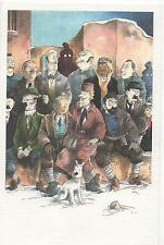 Carte postale SOMON. Tintin et sa famille. Carte couleurs. Tirage limité