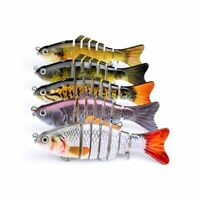 Fish Bait Lure Swimming Colorful Minnow Bass Tackle Fishing Gear Bionic Hard New