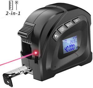 Digitaler 2in1 40M Laser-Bandmaß-Bereich Einzel-Messwerkzeug-Entfernungsmesser