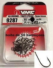 50 Hameçons n*6-8-10-12 VMC 9287 BZ à oeillet << carpe -brochet- carnassier >>