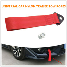 Exterior Ropes Racing Car Universal Tow Eye Strap Tow Strap Bumper Trailer (Red)