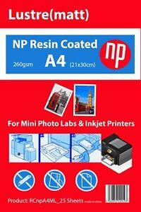 A4 Matt / Lustre Premium 25 Sheets Photo Paper 260gsm