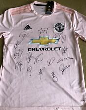 Signed Man United 18-19 Away Shirt. Squad & Solskjaer. Brand New With Tags