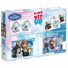 Frozen Puzzle, Memory, Domino, Frozen Superkit, Die Eiskönigin Superset