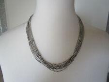 Halskette Collier Modeschmuck Silberfarben Edelstahl ohne Stein Länge 56
