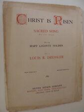 Christ Is Risen Med voice in D Mary Holden, Louis Dressler Violin Obbligato 1906
