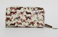 Cath Kidston Zip Wallet Mini Sketchbook Dog Oyester Shell Colour New with Tag