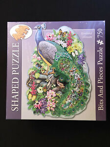 New & Sealed - Majestic Peacock 750 Piece Jigsaw Puzzle - Rosiland Solomon