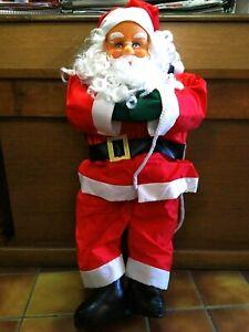 Père Noël Grimpeur Hauteur 100 cm - Large 45 cm - Décoration Extérieure durable