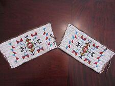 Antique Sioux  Beaded Cuffs ( pipe bag,strike a lite, catlinite, Plains Indian )