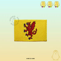 SOMERSET County Flag Embroidered Iron On Sew On Patch Badge For Clothes Etc