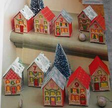 Stickvorlage,Point de Croix,origineller 3D-Advents-Kalender,Stadt,Häuser,Dmc