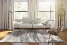 De Poortere Deco Distressed Faded MAD MEN JERSEY STONE GREY 8420 Rug XS - XXL