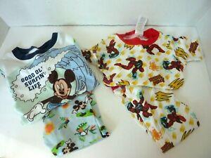 Lo of 2 Pair Pajamas Power Rangers & Mickey Mouse Size 4
