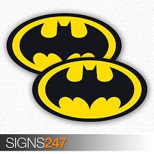 2x BATMAN LOGO STICKERS Vinyl Car Sticker Van Motorbike Skateboard Stickers