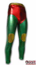 Luchadora adult Mexican Lucha Libre Wrestling tights pants green red gold