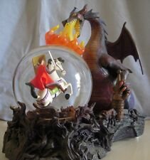 Disney Maleficent Sleeping Beauty Dragon Fire  Snowglobe Lite-up