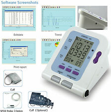 2017 New CE/FDA Digital LCD Blood Pressure Monitor Child +Adult cuffs + Software