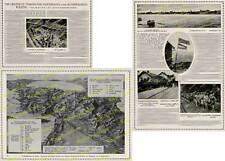 orig. Fotobericht Bagdadbahn Bau 1. Weltkrieg Reliefkarte Eisenbahn Türkei 1916