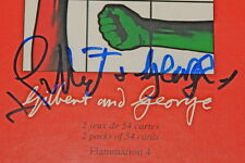 GILBERT & AND GEORGE ~ COLOURED FRIENDS SHOUTING ~HAND SIGNED PLAYING CARDS 1997