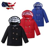 Winter Kid Baby Boy Girl Hooded Jacket Chidren Warm Thick Coat Outerwear Clothes