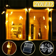 3M 20LED Hanging Picture Photo Clip Shape Fairy Wire String Lights Chain