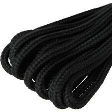 Zapato negro fuerte 60cm Redondo Cordones Para Zapatos/Botas 99p