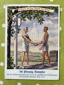 Ganzsachen Deutsches Reich DR Postkarte Staffellauf Notopfer Karte