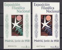BT6835/ SPAIN – BLOCKS Y&T # 19 / 20 COMPLETE MINT MNH – CV 110 $