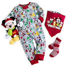 Disney Baby My 1st Christmas Gift Set 4 Piece Boy 18-24 Mo Romper Bib Sock Plush