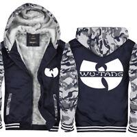 Wu-Tang Clan Camoflauge Hoodie Zip up Jacket Coat Winter Warm Blue #0014