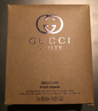 Gucci Guilty Absolute Pour Homme Shower Gel/After Shave Balm 50ml Each IN BOX
