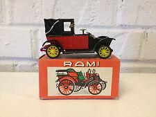 Vtg Rami by JMK Model / Toy Diecast Car 1907 Taxi De Le Marne Renault w/ A Box