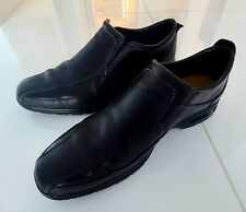 COLE HAAN NIKEAIR MEN'S BEAUTIFUL BLACK LEATHER SLIP ON CASUAL DRESS SHOES 10 M