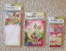 Lot Of 3 Brand New Pretty Kitty Journal Notepad Pocket Note Pad Stationary BNIP