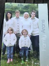 Wendy Booklet 322 Family Arans Polo Neck, Gilet, Jackets, Hat, Mittens, Scarf