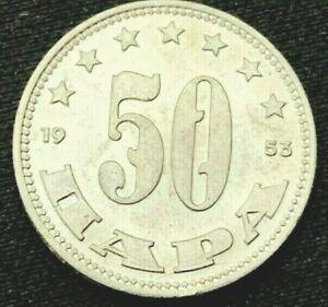 Yugoslavia 1953    50 Para UNC BU    Aluminum Coin    #K628