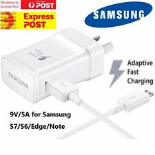 Genuine Samsung 9v Adaptive Fast AC Wall Charger for S7 S6 Edge Note 4 5