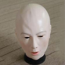 Funny Bald Full Face Women Ladies Transgender Mask For Halloween Masquerade Prop