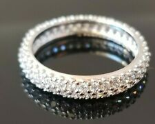 .50TCW Pandora Round Designer Diamond Modern 14k white gold eternity band SZ 6