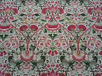 William Morris Curtain Fabric  'Lodden' 3.5 METRE Rose/Thyme  100% Cotton