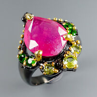 Women Jewelry Natural Ruby 925 Sterling Silver Ring Size 6.75/R115014