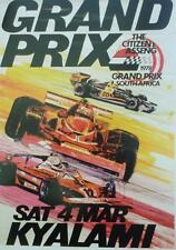 A3 classic sport automobile Poster Kyalami Sud africa1978 racing grand prix de vitesse