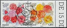 Y&T 4957-4958 Dyptique Les Roses de 2015  OBLITÉRÉ 1er jour