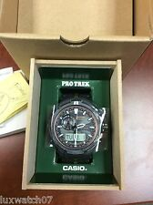 Casio Men's PRWS6000Y-1A Pro Trek Analog-Digital Display Black Watch